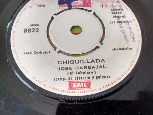 vinilo single de jose carbajal - pinochero  ( b91
