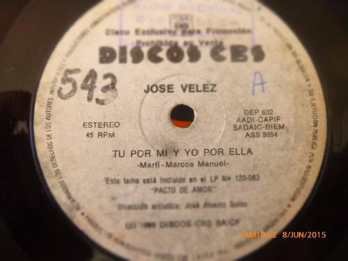 vinilo single de jose velez - el nuevo gitano ( q22