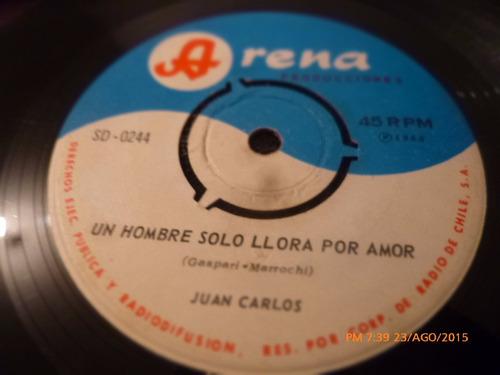 vinilo single de juan carlos -- volveras   ( n15