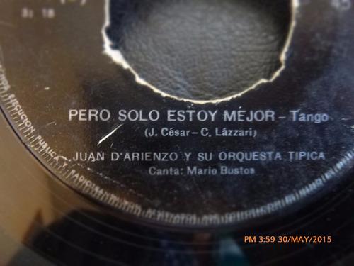vinilo single de juan darienzo - quien como yo   ( h132