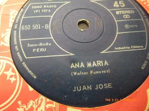 vinilo single de juan jose --ana maria ( v3