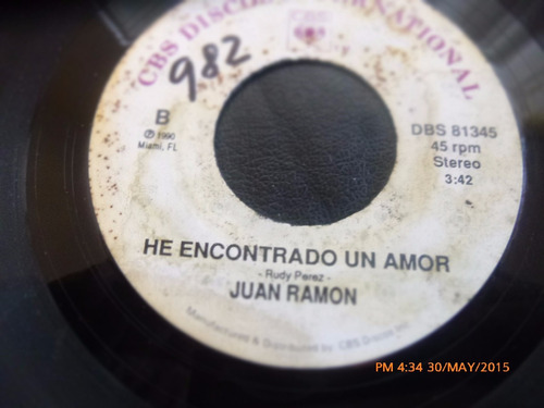 vinilo single de juan ramon  -he encontrado un amor   ( h131