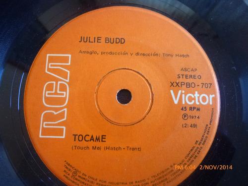 vinilo single de julie budd  tocame ( i139