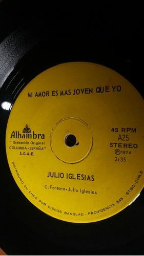 vinilo single de  julio iglesias  minueto (o-59