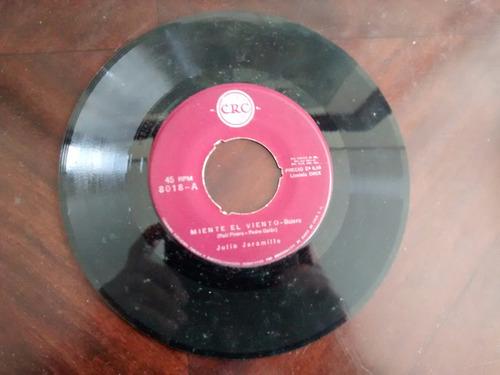 vinilo single de julio jaramillo -- me duele el corazo( c30