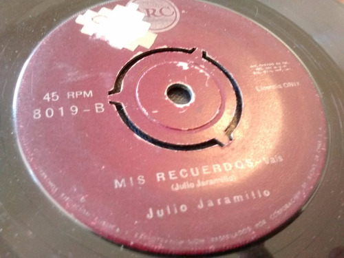 vinilo single de julio jaramillo - mis recuerdos ( p97