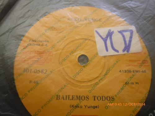 vinilo single de keko yunge  bailemos todos ( b145