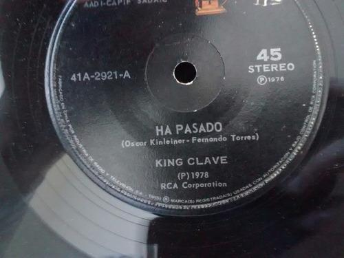 vinilo single de king clave - ha pasado( f141