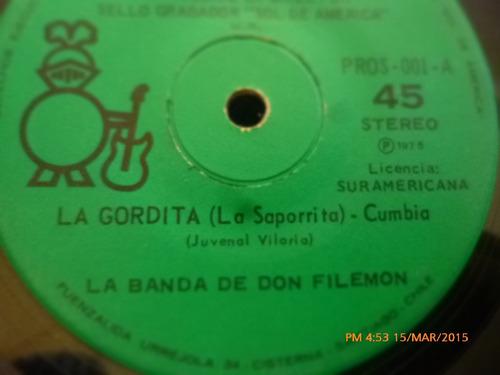vinilo single de la banda de don filemon  -la cumbancha( a11