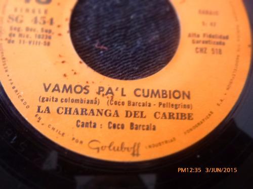 vinilo single de la charanga del caribe -vamos pal cum( h60