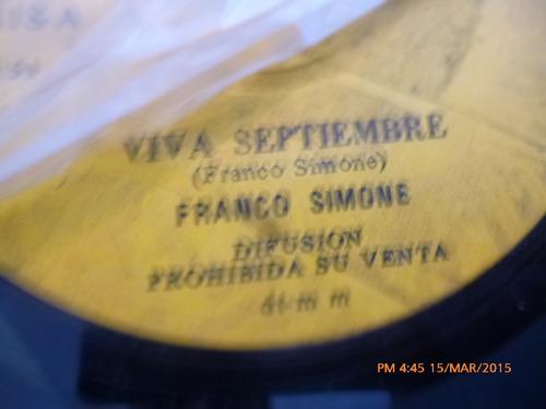 vinilo single de la franco simone - viva septiembre ( c113