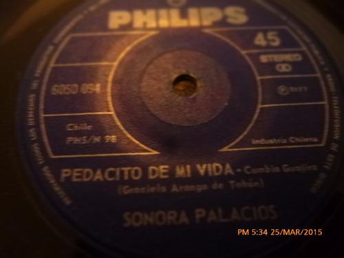 vinilo single de la sonora palacios --pedacito de mi( c144