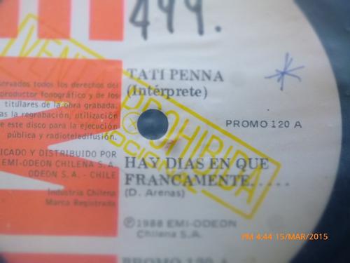 vinilo single de la tati penna -los amantes ( c110