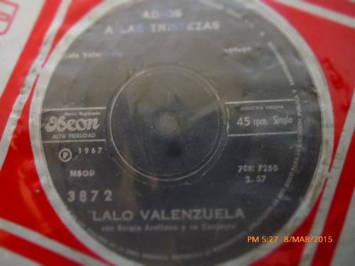 vinilo single de lalo valenzuela - vivimos separa ( a150