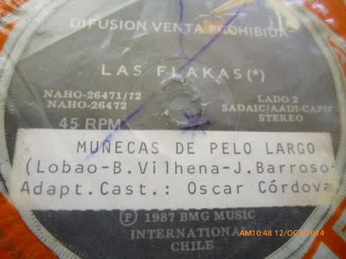 vinilo single de las flakas -- quiero rock - ( b144