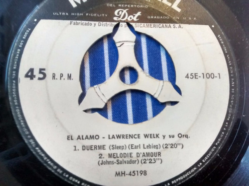 vinilo single de lawrence welk - tentacion  ( e134