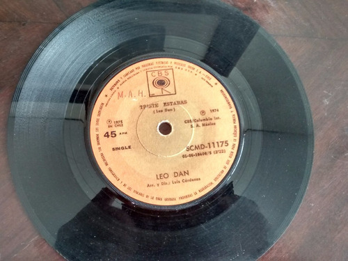 vinilo  single de leo dan - el amor y la felicidad ( q99