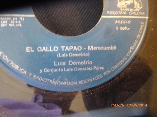 vinilo single de leo soto - luis demetrio el gallo tap( s134