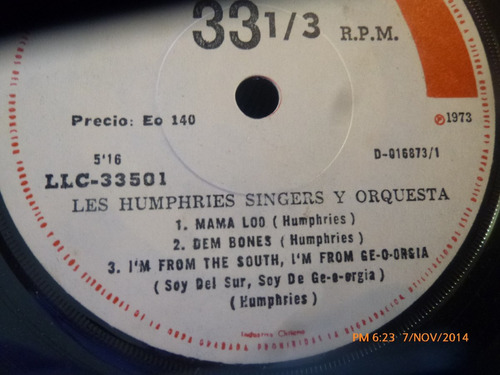 vinilo single de les humphries singers  mama lod( s146