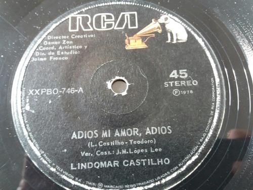 vinilo single de lindomar castilho adiós mi amor( v -86