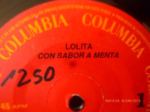 vinilo single de lolita --sabor a menta ( q42
