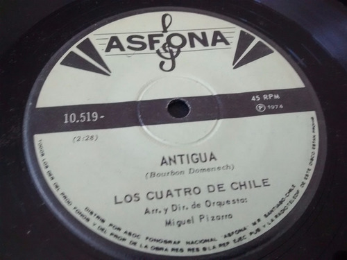 vinilo single de los 4 de chile  -a una niña ( t21