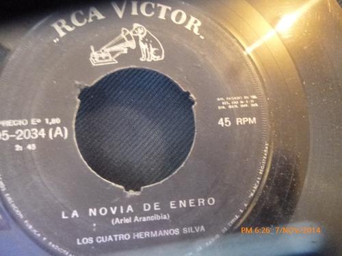 vinilo single de los 4 hermanos silva - la consentida( s135