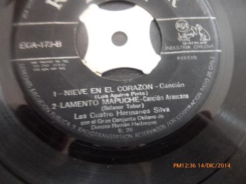 vinilo single de los 4 hermanos silva - tierra linda( a139