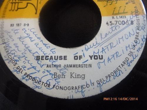 vinilo single de los 4 hit' s -enojo pasajero ( a82