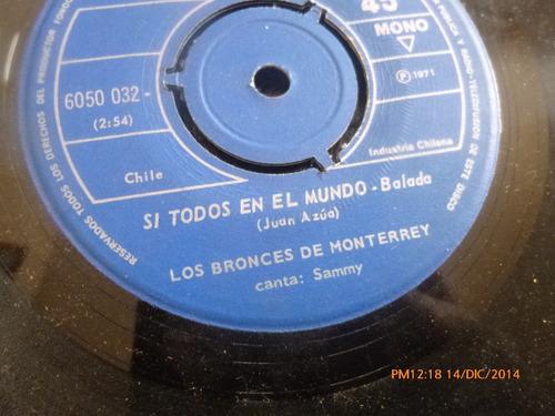 vinilo single de los bronces de monterey -- el tiempo ( a147