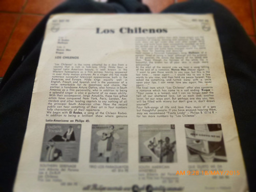vinilo single de los chilenos --el rodeo( i127