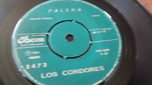 vinilo single de los condores - palena ( j30