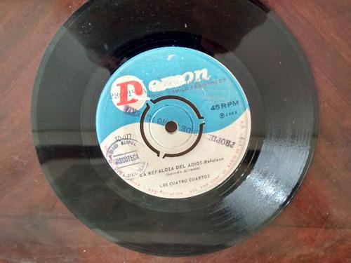 vinilo single de los cuatro cuartos - mano nortina ( j92