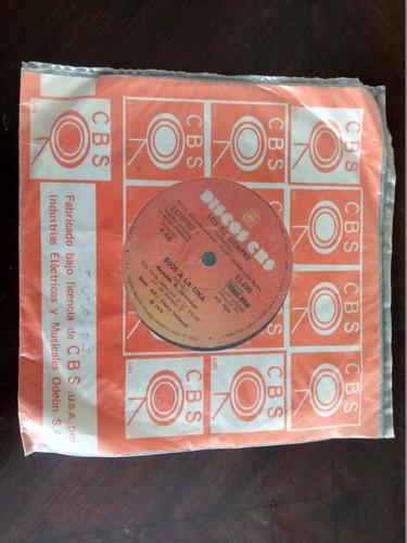 vinilo single de los de siempre - dios a la luna ( r20
