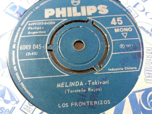 vinilo single de los fronterizos melinda ( v115