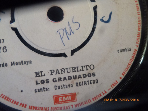 vinilo single de los graduados el pañuelito ( v18