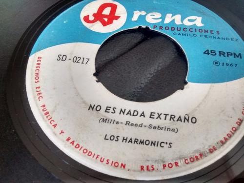 vinilo single de los harmonic's - es la lluvia que cae( p134