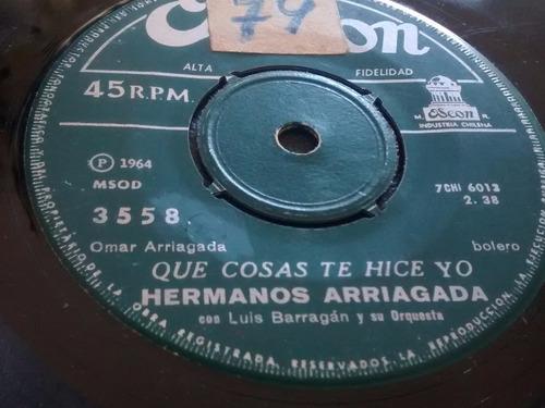 vinilo single de los hermanos arriagada - cerro san ( p37