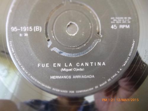 vinilo single de los hermanos arriagada -  guarac ( s8