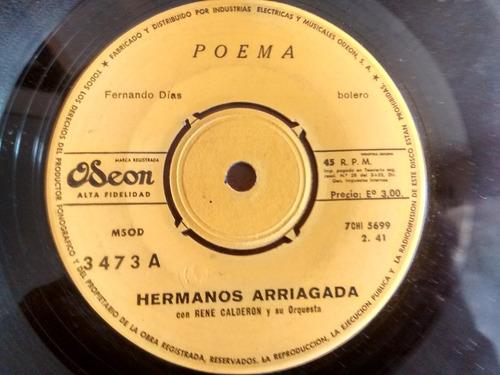 vinilo single de los hermanos arriagada  poema ( m-67