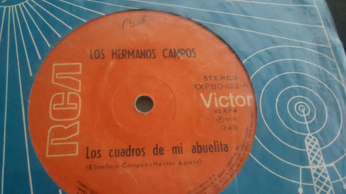 vinilo single de los hermanos campos -- fresco ( u61