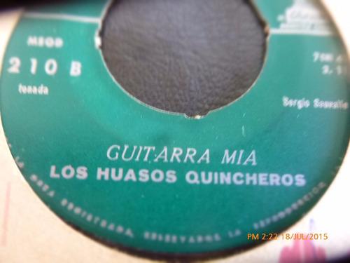 vinilo single de los huasos quincheros -guitarra mia  ( r89