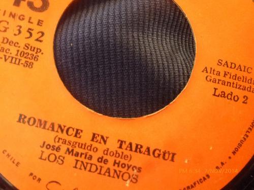 vinilo single de los indianos  --juan paye( s87