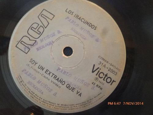 vinilo single de los iracundos --  agua con amor( a113