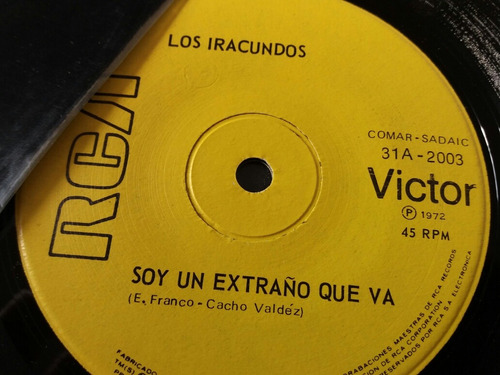 vinilo single de los iracundos agua con amor ( v -75