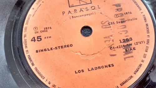 vinilo  single de los ladrones - parasol   ( u93