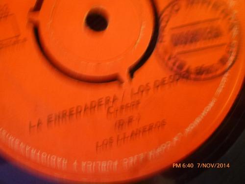 vinilo single de los llaneros -la enredadera( s75