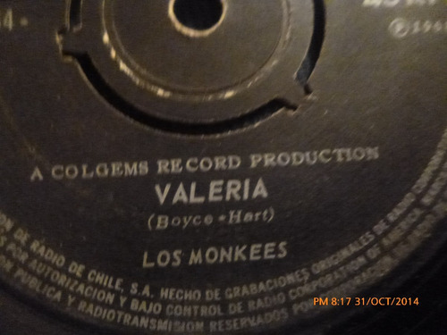 vinilo single  de los monkees -- valeria ( b63