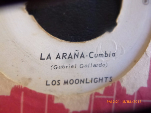 vinilo single de los moonlights -- rosa maria ( r90