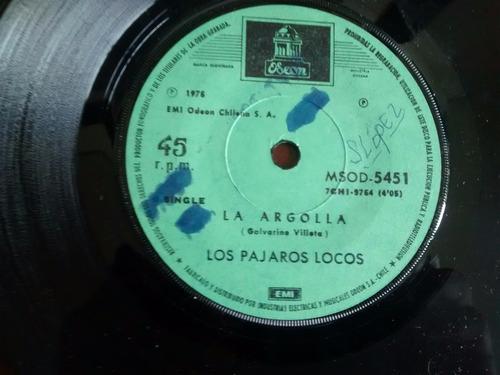 vinilo single de los pajaros locos - a las buenas frut( q81